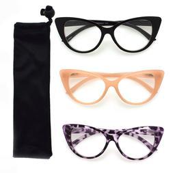 Multi Color Cat Eye Reading Glasses R222-SET OF 3