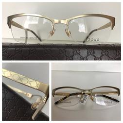 NEW AUTHENTIC GUCCI GG 4211 AOZ GOLD 53-17-135 METAL OPTICAL