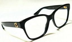 New Authentic GUCCI GG0038O 001 Black 54/17/140 Women's RX E
