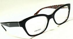 New Authentic PRADA PR20PV MAS-1O1 Black 52/17/140 Rx Eyegla