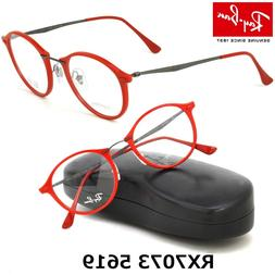 New Authentic RAY-BAN Light Ray RB7073 5619 Shiny Red 49/21/
