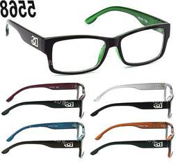 new clear lens square frame eye glasses