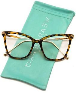 WearMe Pro - New Elegant Oversized Clear Cat Eye Non-Prescri
