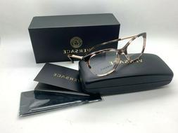 NEW VERSACE Eyeglasses OVE3248 5253 HAVANA PINK 52-16-140MM