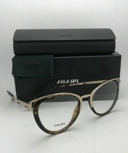 New PRADA Eyeglasses VPR 53U 2AU-1O1 50-19 145 Tortoise and