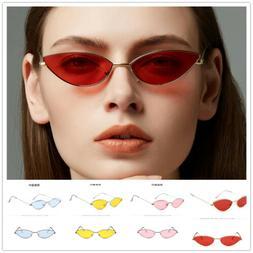 New Fashion Women's Cat Eye Sunglasses Vintage Small Frame E
