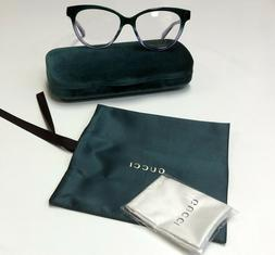 New Gucci GG 0373-O 004 Green Women's Authentic Eyeglasses F