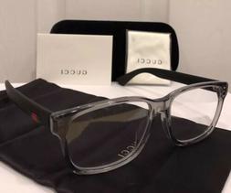 New GUCCI GG0011OA Clear & Black Eyeglasses Frame W/ Gucci W