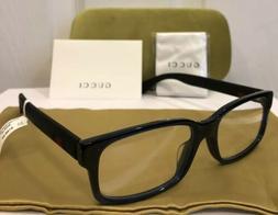 New GUCCI GG0012OA 004 Black Eyeglasses Optical Frame W/ Guc