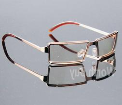 New Men Women Rectangular Frame Clear Lens Glasses Designer