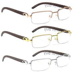 New Mens Women Retro Vintage Clear Lens Eye Glasses Half Fra