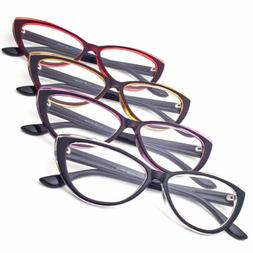 NEW READING GLASSES CAT EYE FASHION CLEAR LENS WOMENS FASHIO