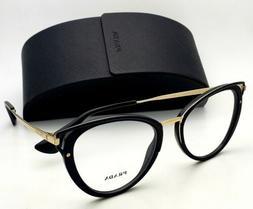 New PRADA Rx-able Eyeglasses VPR 53U 1AB-1O1 52-19 Black and