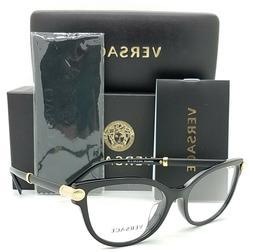 NEW Versace RX Frame Cat-Eye Glasses VE3270QA GB1 54mm Black