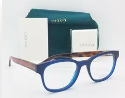 NEW Gucci RX Frame Glasses Blue Havana Red GG0005O 004 51mm