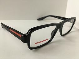 New PRADA Sport VPS 01G 1AB-1O1 Black 53mm Men's Eyeglasses