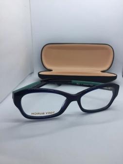 NEW TORY BURCH TY 2037 511 Eyeglasses Glasses Navy Blue & Gr
