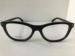 New PRADA VPR 0R5 1AB-1O1 53mm Black Women's Eyeglasses Fram