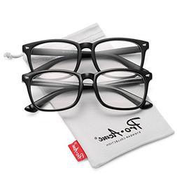 89af093fe10 Pro Acme New Wayfarer Non-prescription Glasses Frame Clear L