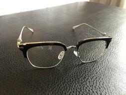 Non-Prescription Shiratori Horn Rimmed 50mm Clear Plano Lens