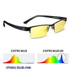 KLIM Optics - Blue Light Blocking Glasses - Reduce Eye Strai