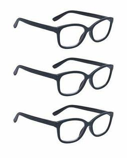 Outray Men & Women Reading Glasses 3 Pair Spring Hinges Read
