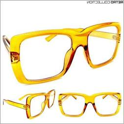 OVERSIZE EXAGGERATED VINTAGE RETRO Style Clear Lens EYE GLAS
