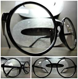 oversize vintage style clear lens eye glasses