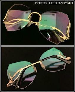 OVERSIZED Designer LUXURY Retro Style Eye Glasses Frame Diam