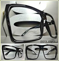 Oversized Exaggerated Large Square Black Lensless Eye Glasse
