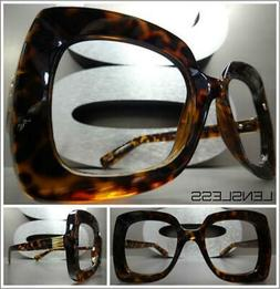 Oversized Exaggerated RETRO Large Square Lensless Eye Glasse