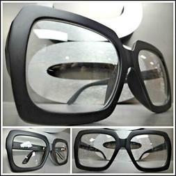 Oversized Exaggerated Retro Style Clear Lens EYE GLASSES Hug