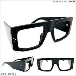 Oversized RETRO Large Super Thick Square Lensless Eye Glasse