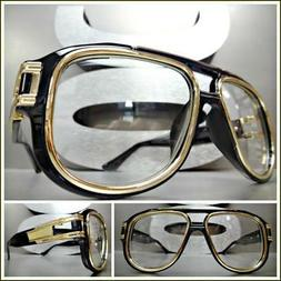 OVERSIZED VINTAGE RETRO Style Clear Lens EYE GLASSES Large W