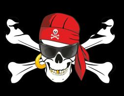 PIRATE FLAG SUN GLASSES EYE PATCH JOLLY ROGER SKULL AND CROS