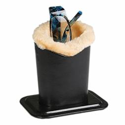 Plush Lined Eyeglass Holder, Black