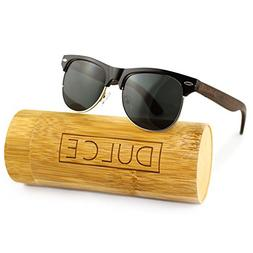 Dulce Polarized Sunglasses By Handmade Clubmaster Rose Woode