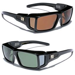Polarized Sunglasses Men Women Rectangular Fit Over Prescrip