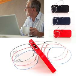 PORTABLE READING EYE GLASSES NOSE CLIP PRESBYOPIC ULTRA THIN