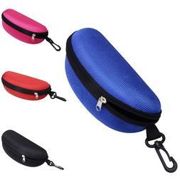 portable zipper eye glasses clam shell sunglasses