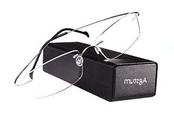 Agstum Pure Titanium Rimless Frame Prescription Hingeless Ey