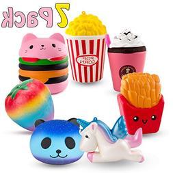 R • HORSE Cute Unicorn, Hamburger, Popcorn Set Kawaii Crea