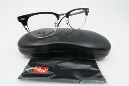 Ray-Ban RB 5154 2000 Clubmaster Black-Silver Authentic Glass