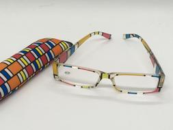 Reader Reading Eye Glasses +2. 75 Strength Bright Stripes Co