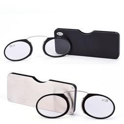 Reading Eye Glasses Nose Clip Mini Case Portable Presbyopic