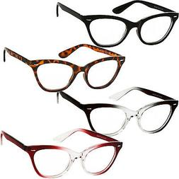 Reading Glasses Cat Eye Fashion Reader Clear Lens Womens Pow