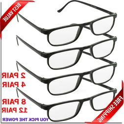 READING GLASSES LENS 2,4,8,12 PACK LOT CLASSIC READER UNISEX