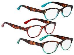 Reading Glasses Set of 3 Great Value Spring Hinge Readers Wo