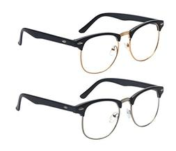 Outray 2 Pack Reading Glasses Vintage Retro Horn Rimmed Half