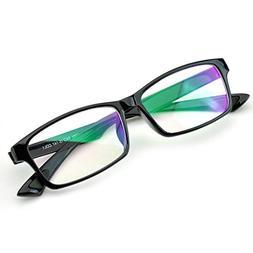 PenSee Rectangular Reading Fashion Horned Rim Eyeglasses Fra